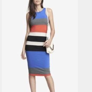 Express striped tank dress